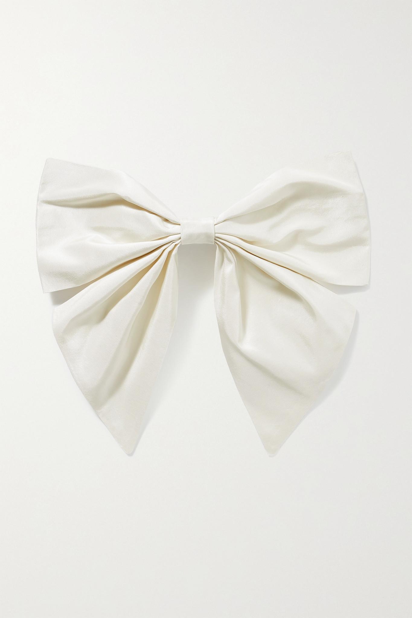 SOPHIE BUHAI - Isabelle 塔夫绸发夹 - 象牙色 - one size