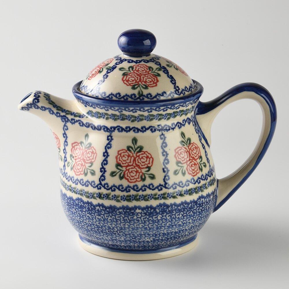 波蘭陶 漫野薔薇系列 茶壺 陶瓷壺 水壺 陶瓷茶壺 1500ml 波蘭手工製