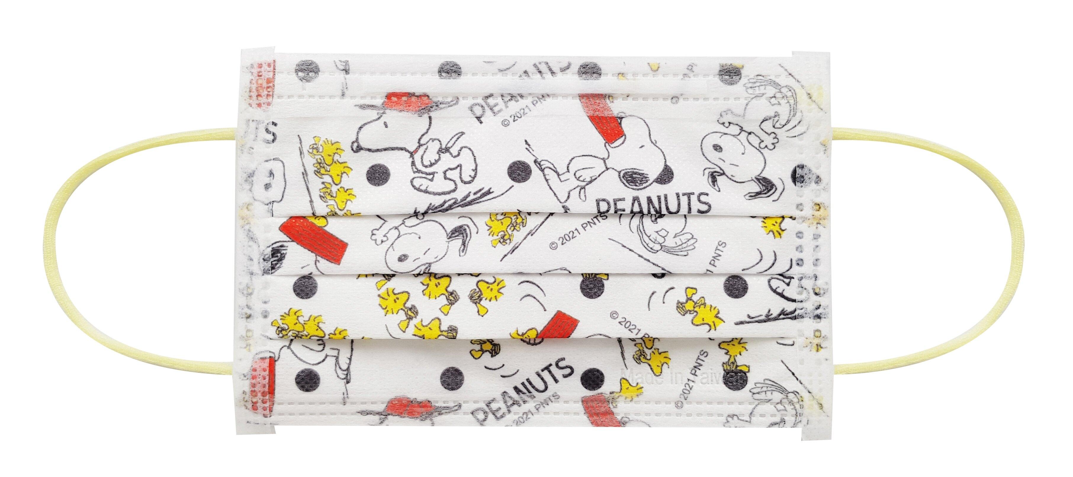 【現貨供應】史努比 兒童防護口罩,30片/盒,二色混款各15入,台灣製造,7-11預購同款