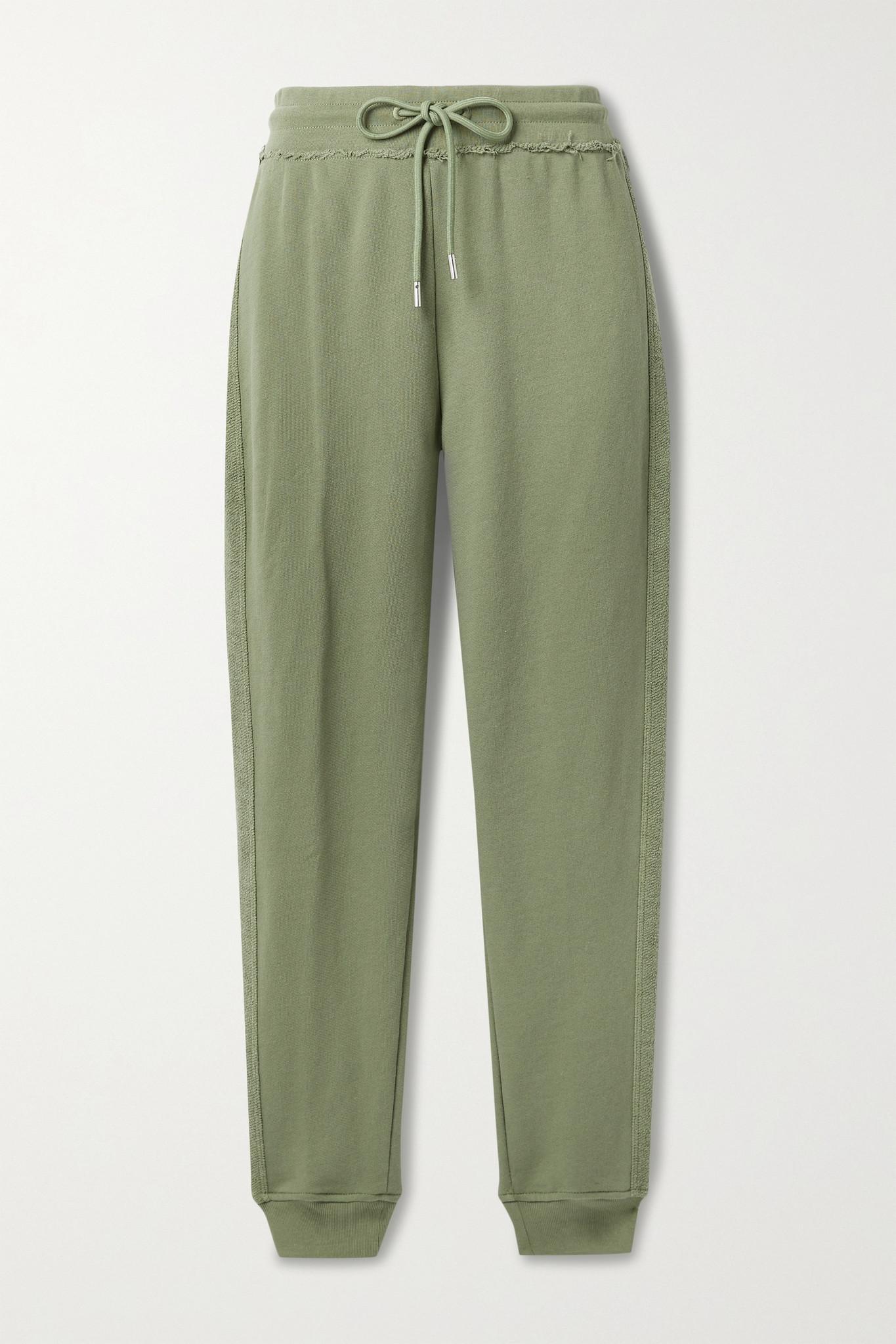 ATM ANTHONY THOMAS MELILLO - 毛边法国纯棉毛巾布休闲裤 - 绿色 - large