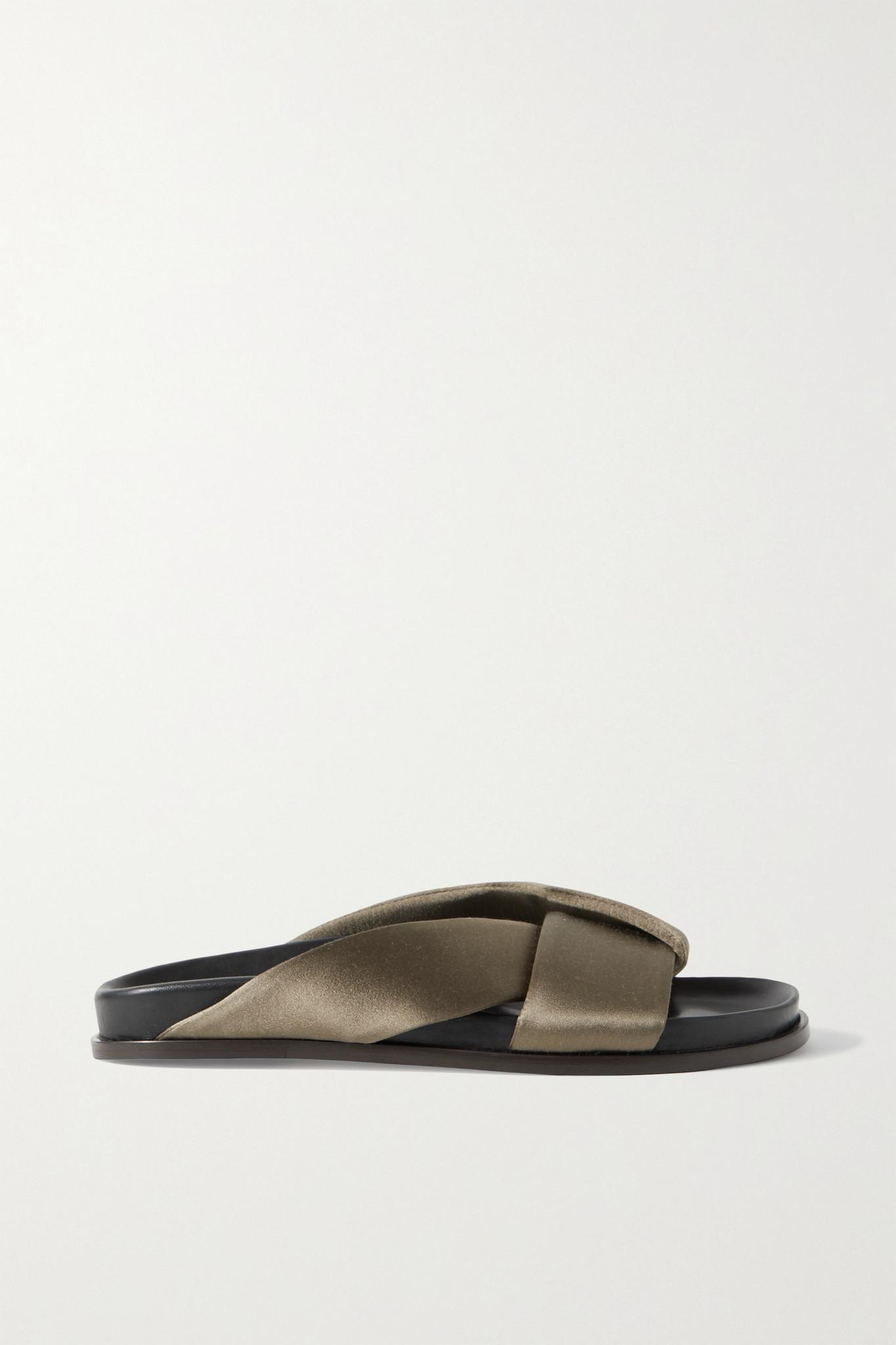 EMME PARSONS - 皮革拖鞋 - 绿色 - IT41