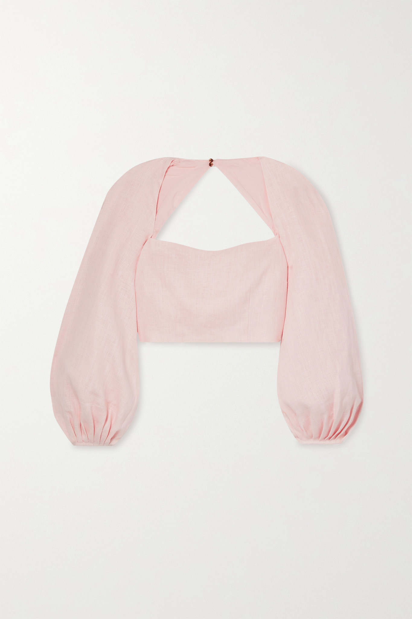 MARA HOFFMAN - 【net Sustain】moon 挖剪汉麻短款上衣 - 粉红色 - US2