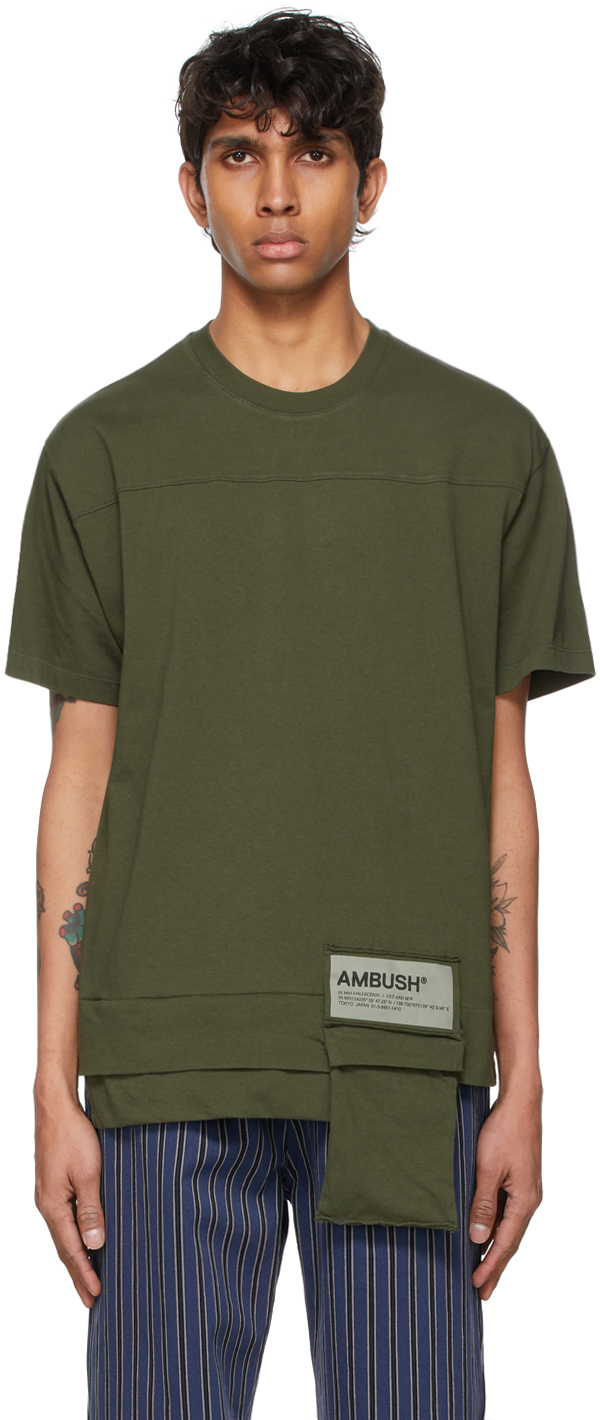 Ambush 绿色 New Waist Pocket 可收纳式 T 恤