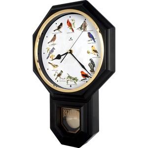 【鐘情坊 JUSTIME】典雅八角整點鳥鳴音樂擺錘掛鐘/台製紅雀黑框