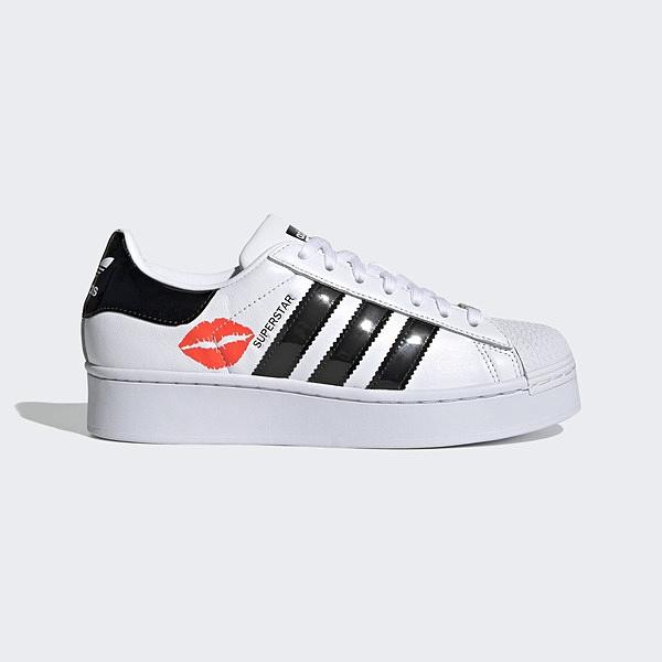 Adidas Superstar Bold W [FZ3789] 女鞋 運動休閒 復古 愛迪達 唇印 厚底 白 黑