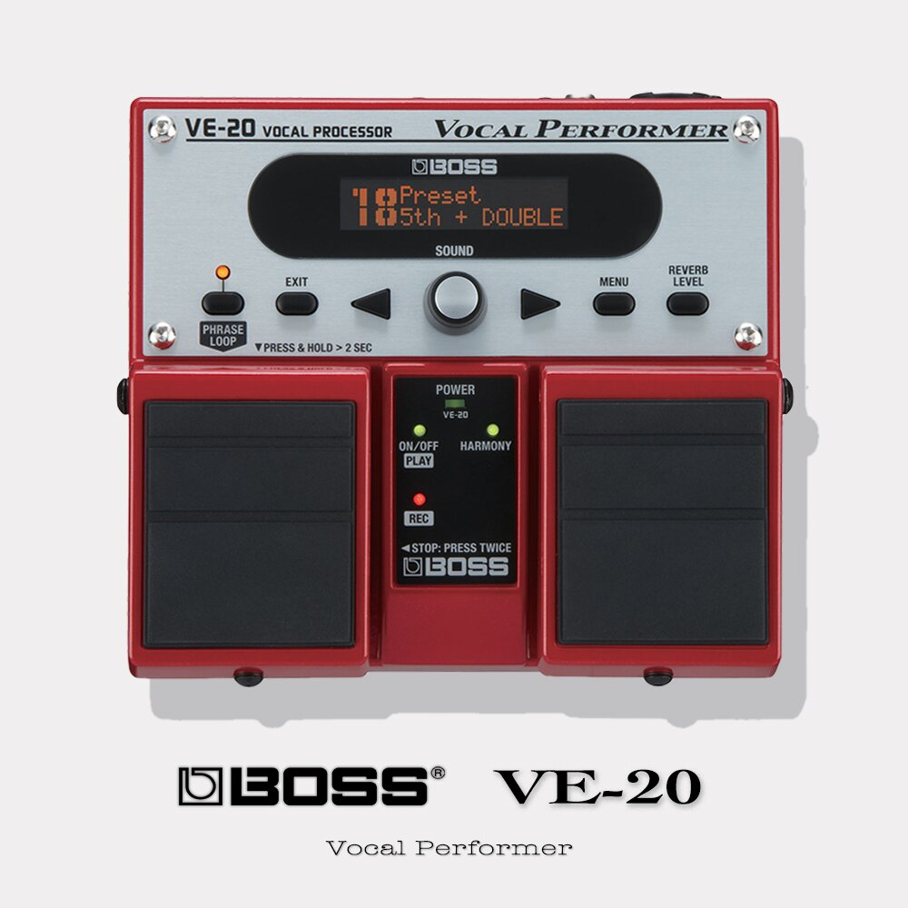 BOSS【 VE-20 】踏板型人聲效果器 / 原廠公司貨保固