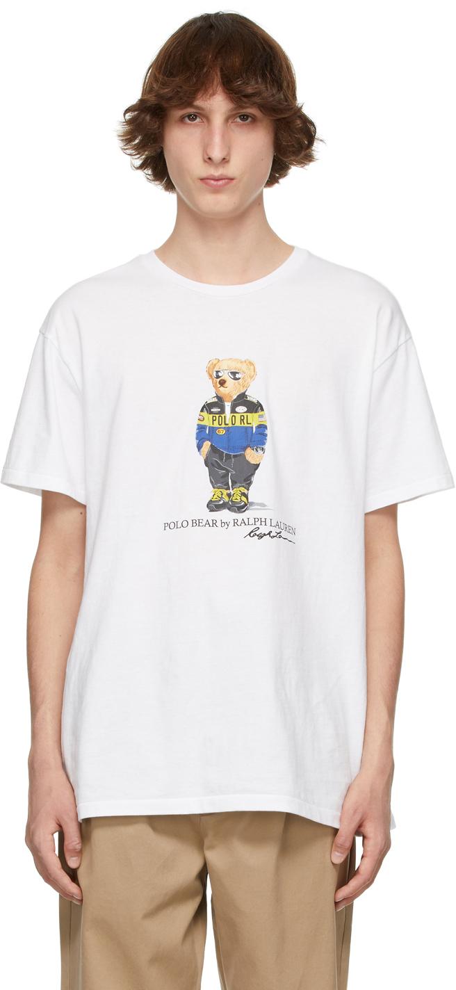 Polo Ralph Lauren 白色 Polo Bear T 恤