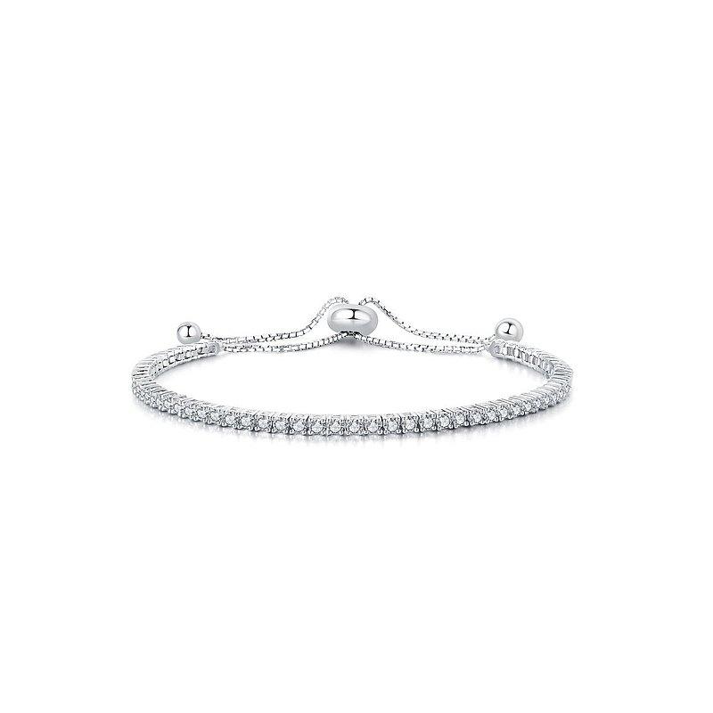【母親節新品】FurElise 給愛麗絲 鑽石手鍊 純銀厚鍍18K金