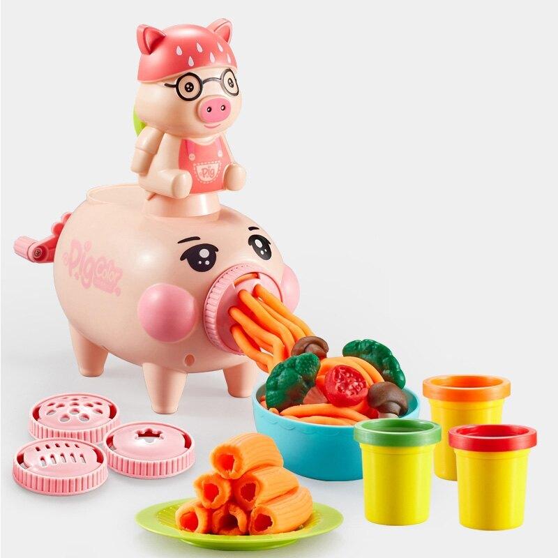 小豬漢堡麵條機 麵條製作機彩泥組 X9915/一盒入(促380) 創意DIY黏土 工具黏土 3D彩泥 DIY彩泥黏土-生