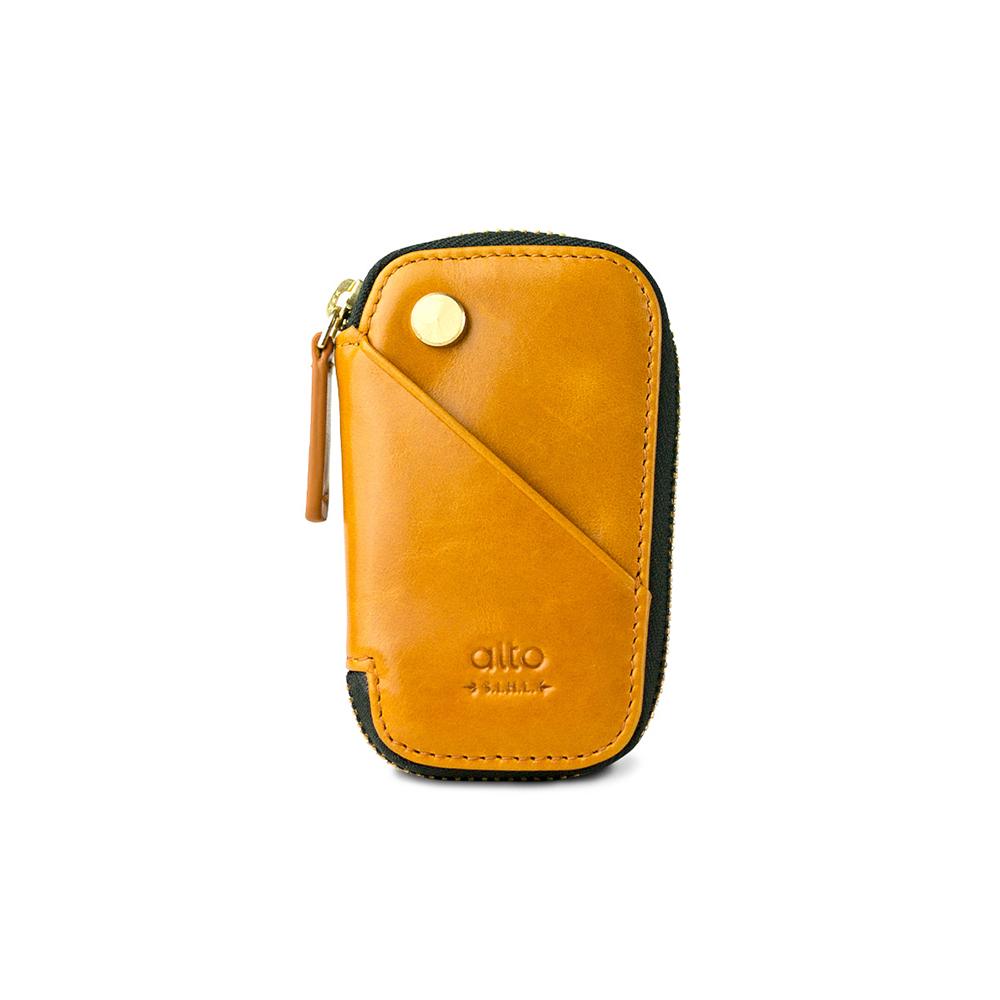 Alto 皮革鑰匙收納包 – 焦糖棕
