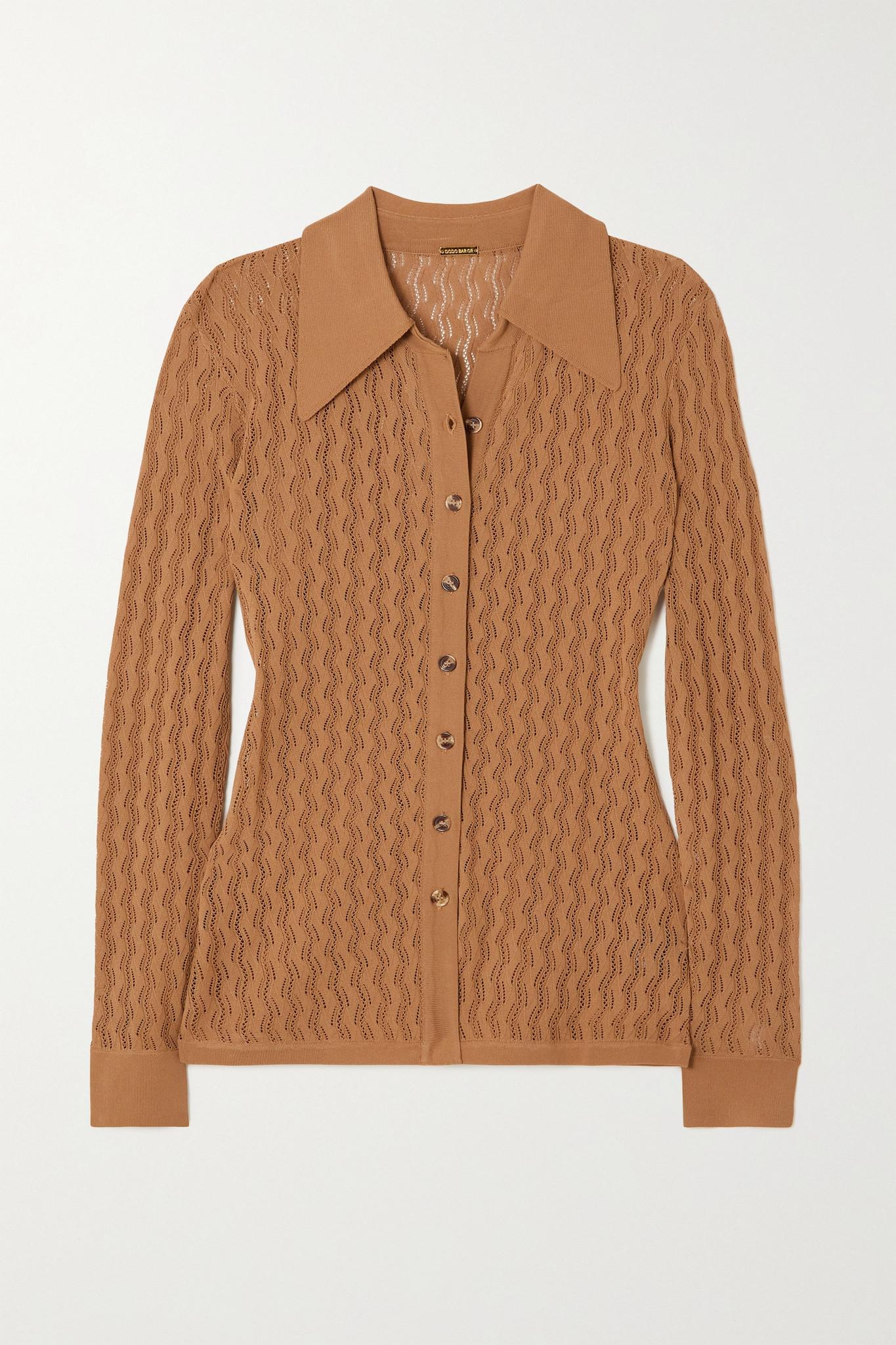 DODO BAR OR - Meryl Pointelle-knit Cardigan - Brown - IT40