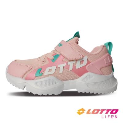 LOTTO 義大利 童鞋 EASY RIDE 輕量跑鞋(粉)