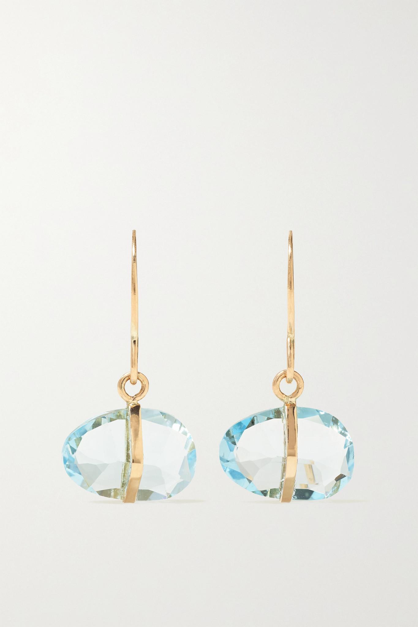 MELISSA JOY MANNING - 14k 回收黄金托帕石耳环 - 金色 - one size