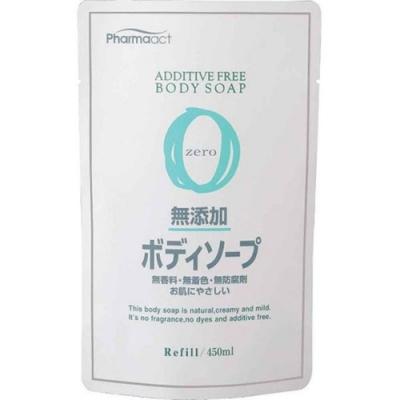 日本 熊野油脂PharmaACT無添加沐浴乳 補充包450ml