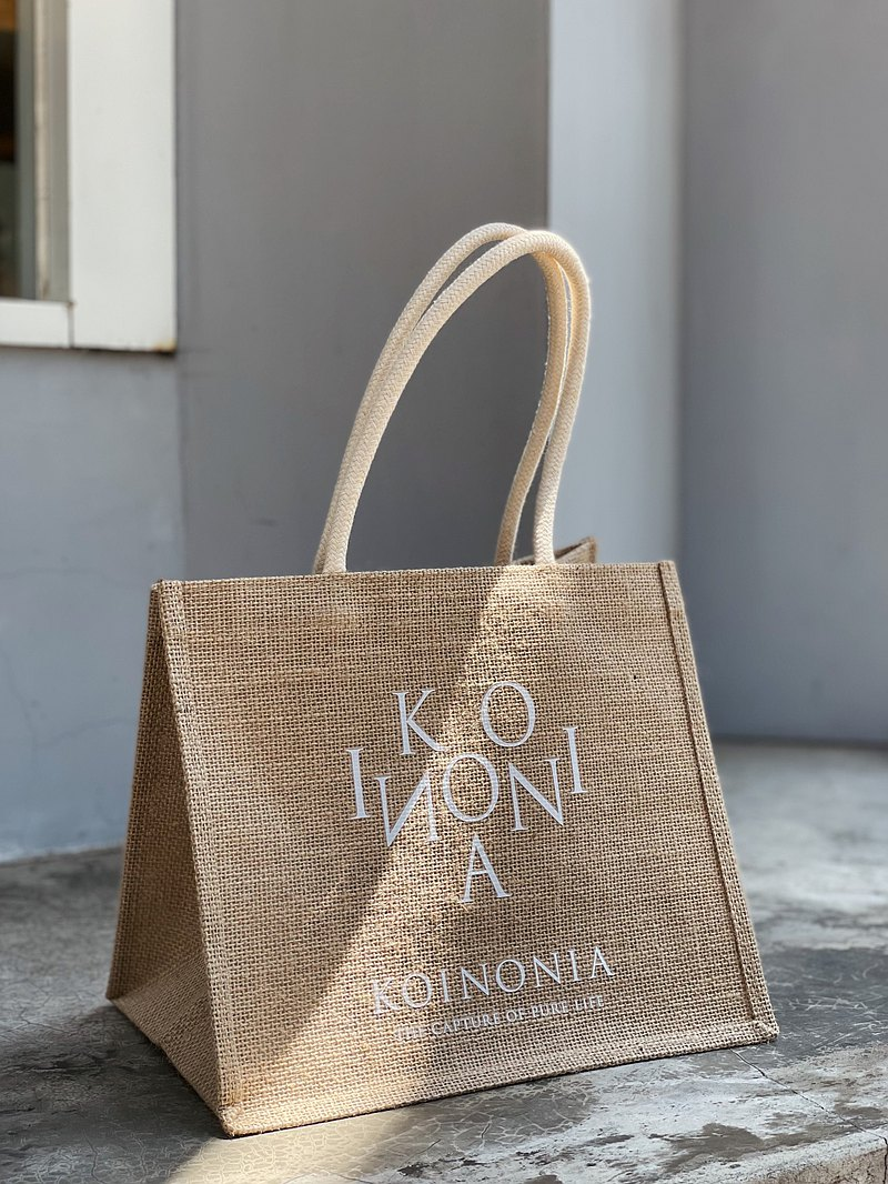 【滿額贈贈品】滿3000送Koinonia自訂質感麻布袋