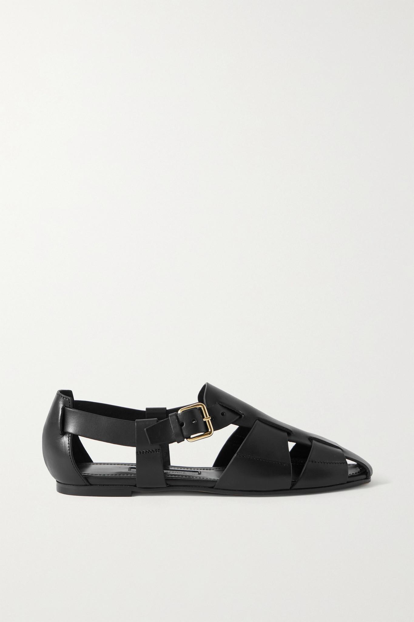 EMME PARSONS - Ernest 皮革凉鞋 - 黑色 - IT35