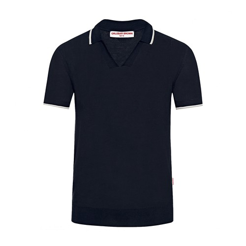 Mallory Iwc Tailored Fit Silk Blend Polo Shirt