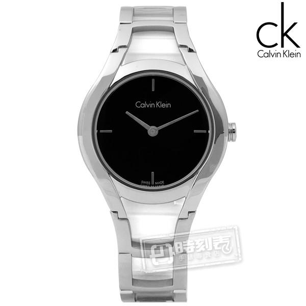 CK / Stately當代優雅精緻不鏽鋼手錶 黑色 / K6R23121 / 32mm