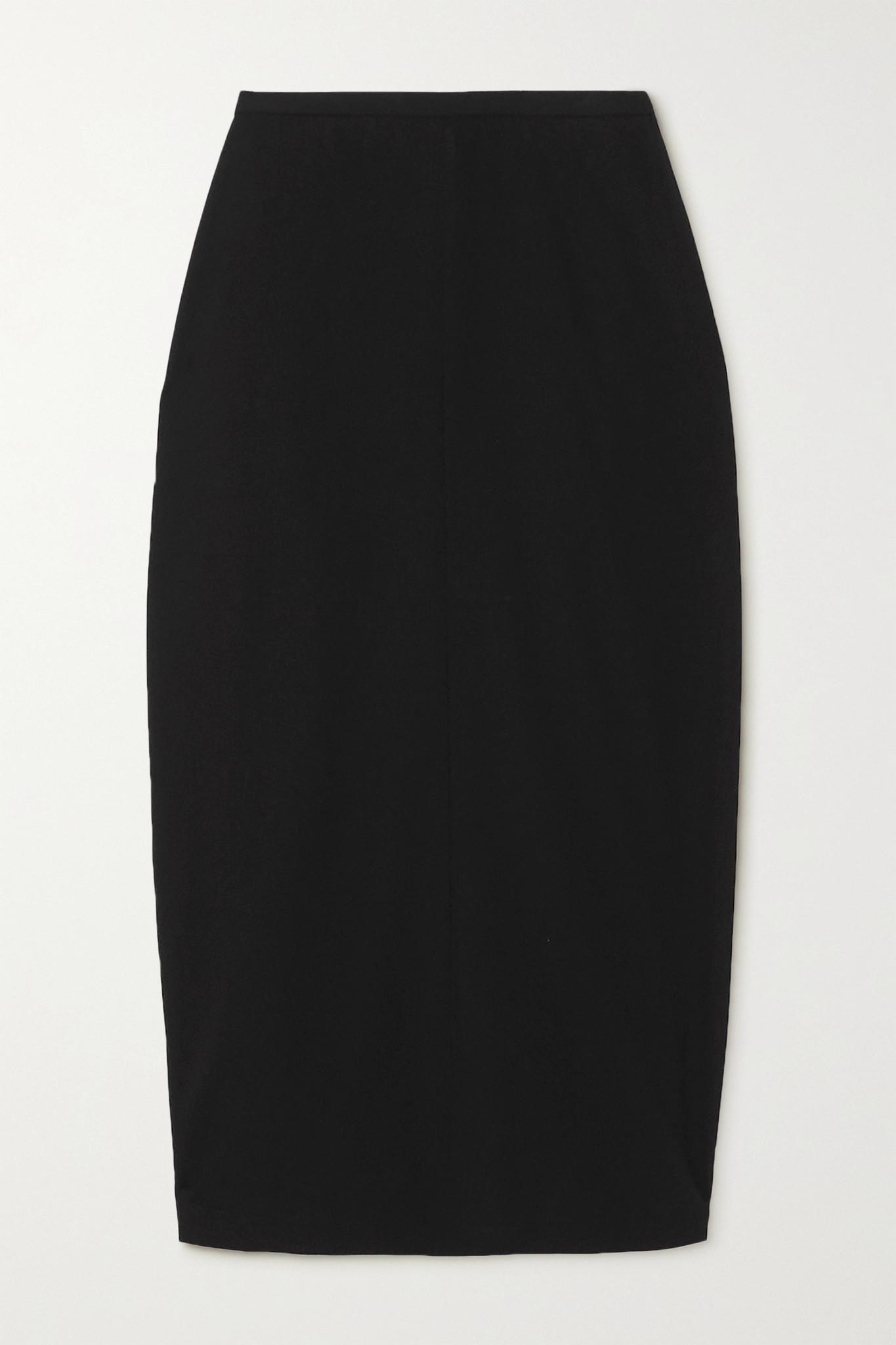 THE ROW - Matias 梭织中长半身裙 - 黑色 - US4