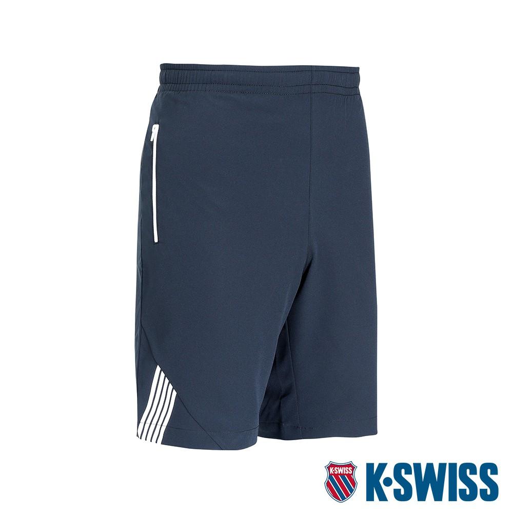 K-SWISS KS Logo Shorts運動短褲-男-黑