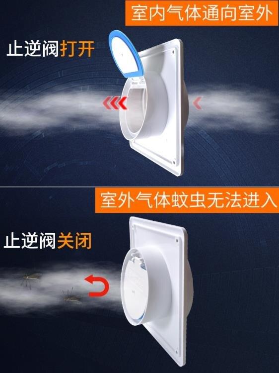 衛生間止逆閥浴霸排風扇排氣管換氣止回閥逆止閥煙道廚房用
