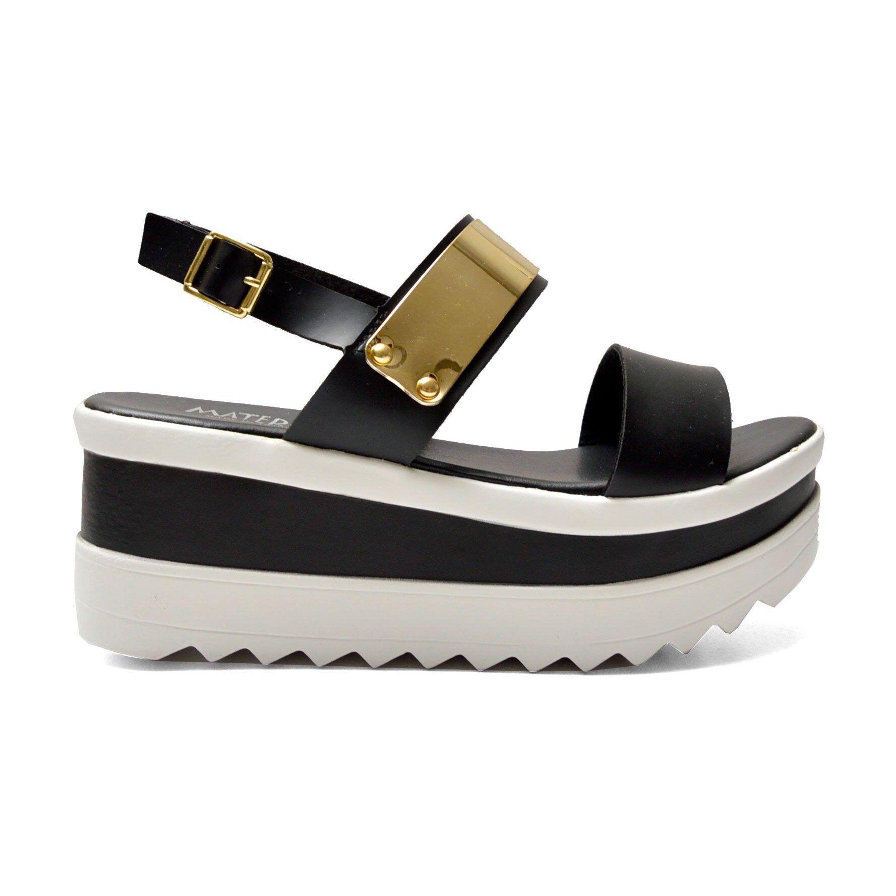 涼鞋 造型金屬片厚底涼鞋