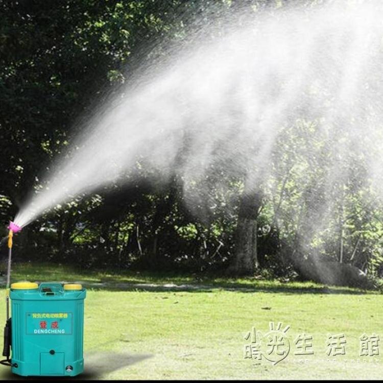 新型電動噴霧器農用鋰電池12v充電背負式智慧消毒打藥農藥機高壓