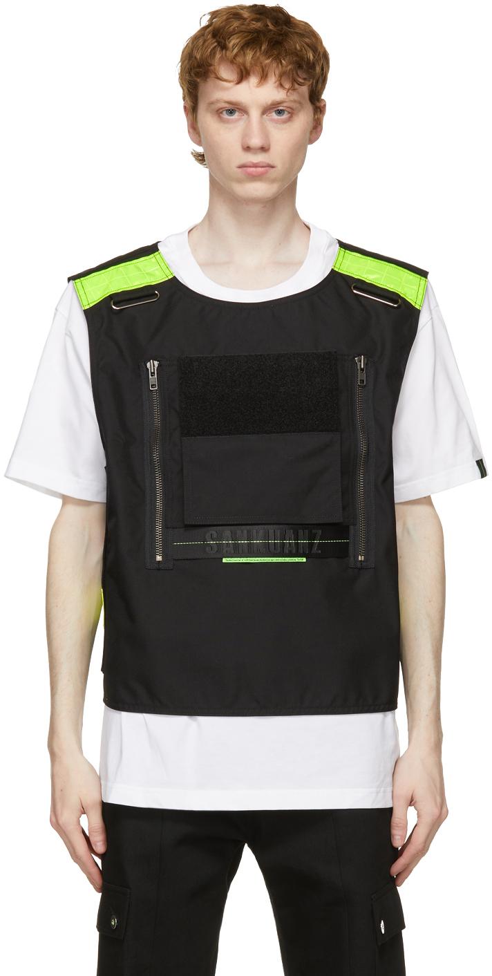 Sankuanz 白色 & 黑色 Vest T 恤
