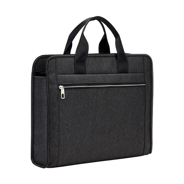 公文包 手提文件袋a4資料文件包防水加寬多層大容量牛津帆布手提包人口普查公文 夢藝家