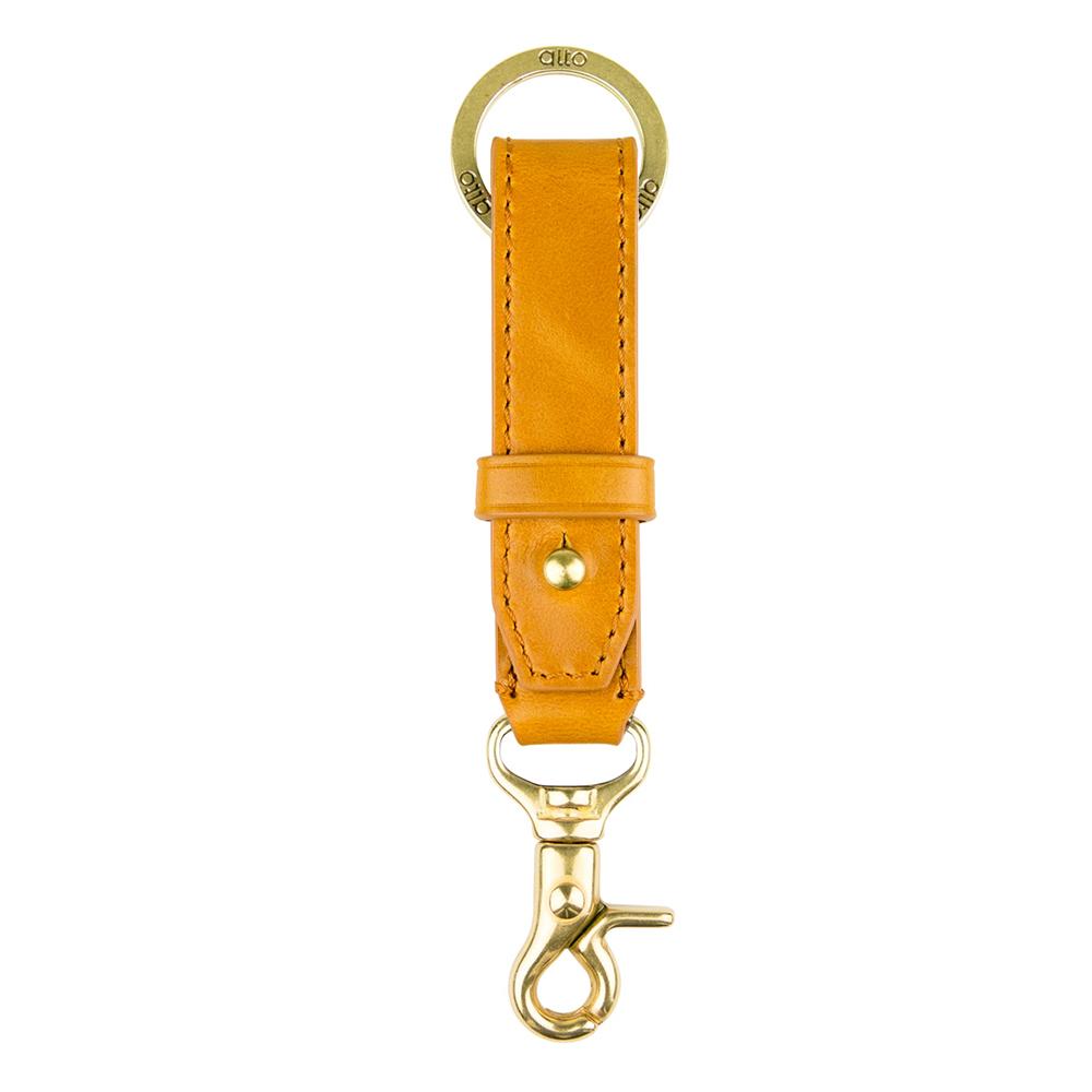 Alto 兩用皮革鑰匙圈 – 焦糖棕