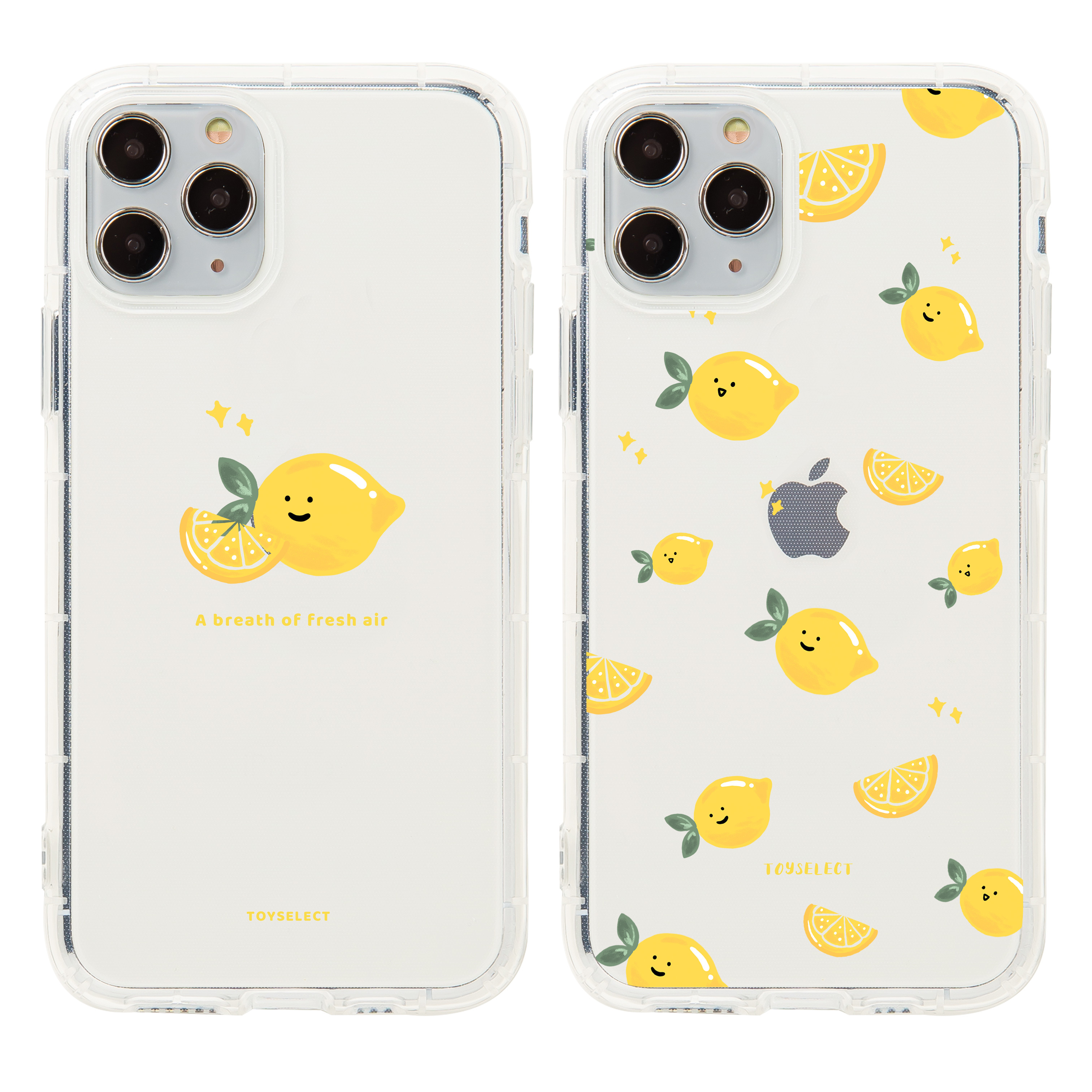 【獨家款】Smilie微笑小檸檬透明空壓iPhone手機殼