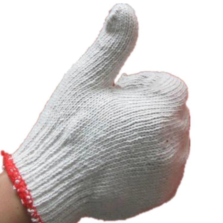 勞保手套 勞保手套 棉紗手套工作耐磨工地干活勞動防護純棉線手套加厚