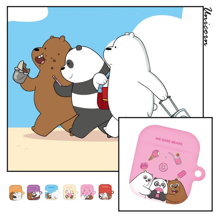-六款-韓國正版熊熊遇見你感情好系列 蘋果AirPods保護套 1/2/3代AirPodsPro耳機套 收納套【KR1100405】Unicorn