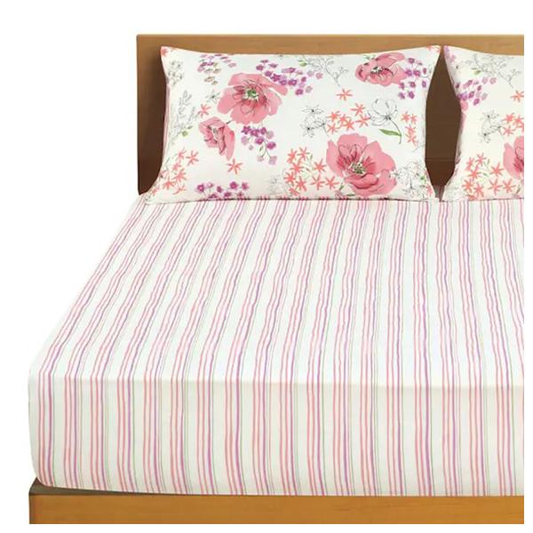 純棉多種厚度對應床包 EDEL 雙人 NITORI宜得利家居