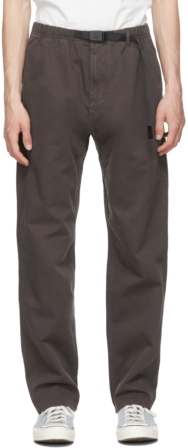 Gramicci 棕色斜纹长裤