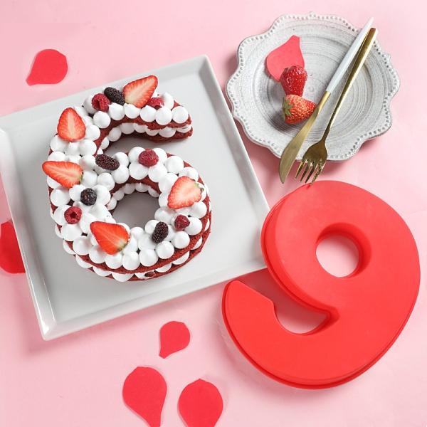 8吋數字蛋糕模具 矽膠蛋糕胚 矽膠模具 果凍模 巧克力模型 冰塊模 手工皂模 果凍模 布丁模【M037】