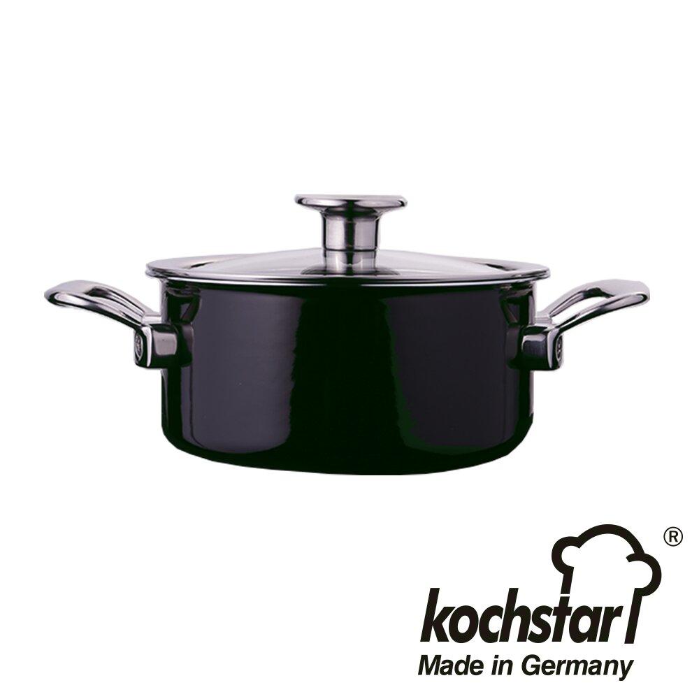 《德國Kochstar》皇家系列20cm琺瑯低身湯鍋 黑