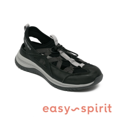 Easy Spirit-seFOREST3 後簍空鬆緊撞色休閒鞋-黑色