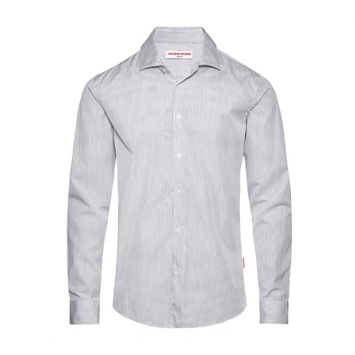 Giles Resort Stripe Cls Resort Tailored Fit Fine Stripe Shirt