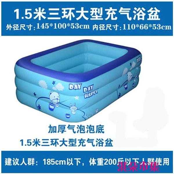 泳池 夏季兒童充氣水池游泳池嬰游泳池兒加厚保溫家用寶寶戲水泳池 淇朵市集