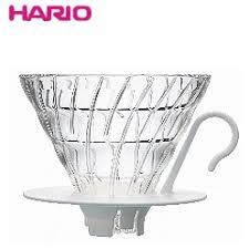金時代書香咖啡 HARIO V60白色02玻璃咖啡濾杯1~4杯  VDGN-02W