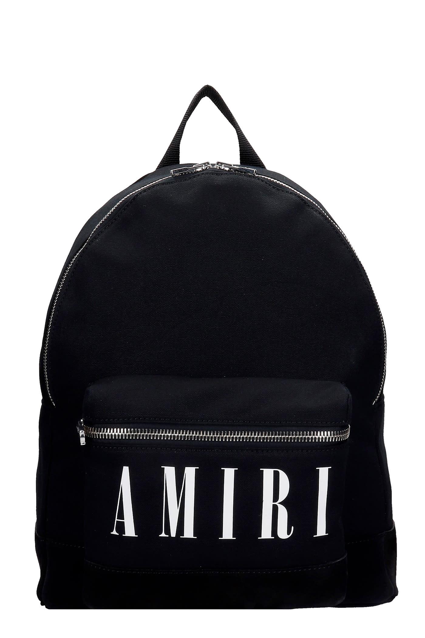 AMIRI Backpack In Black Canvas