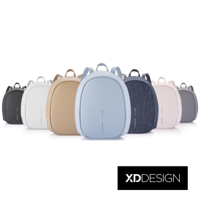 XDDESIGN BOBBY ELLE 時尚皮革/丹寧防盜後背包(桃品國際公司貨)