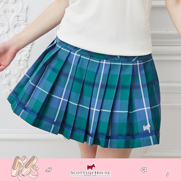 寬腰頭經典正格百褶裙 Scottish House 【AM2123】