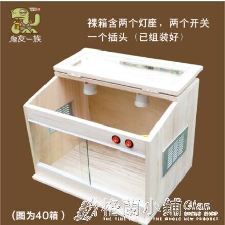 刺猬角蛙爬寵箱飼養箱加熱蜥蜴蜘蛛守宮活體倉鼠陸龜爬蟲箱保溫箱