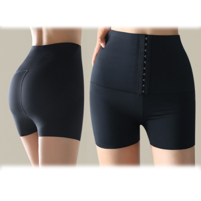塑身褲排勾高腰三分褲收腹塑身褲短褲清惠S-XL.Bifox