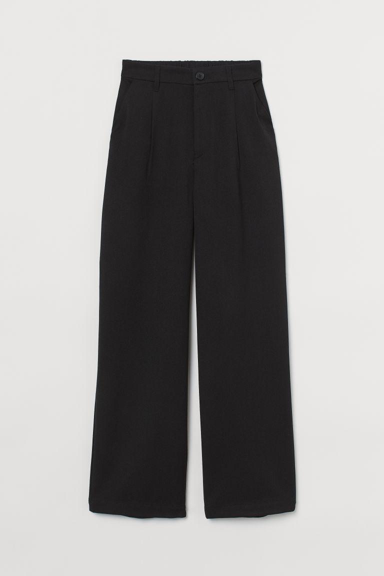 H & M - 寬管褲 - 黑色