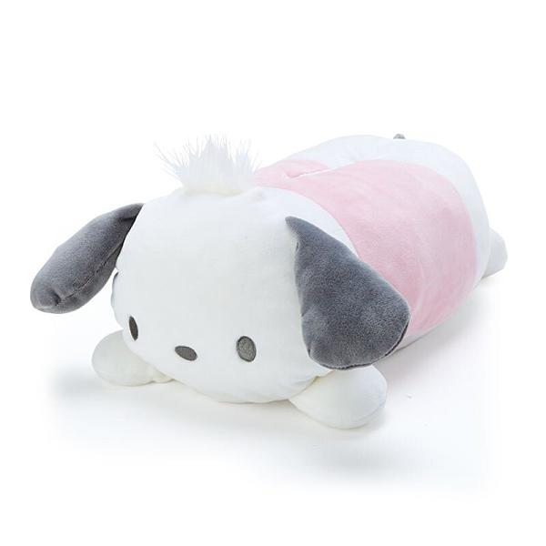 小禮堂 帕恰狗 造型絨毛面紙套 娃娃面紙套 衛生紙套 紙巾套 面紙盒 (白 生日戰隊) 4550337-41461