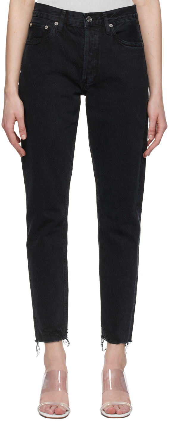 AGOLDE 黑色 Jamie High Rise Classic 有机棉牛仔裤
