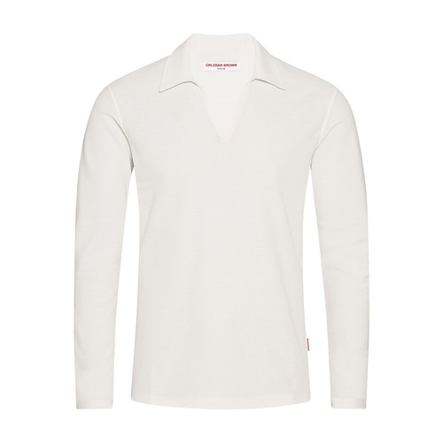 Felix Ls Waffle Tailored Fit Resort Polo Shirt